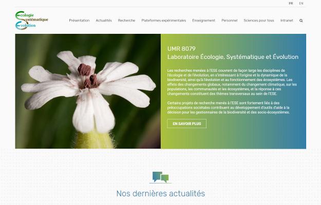 Réalisations Yes You Web! Laboratoire Écologie, Systématique et Évolution