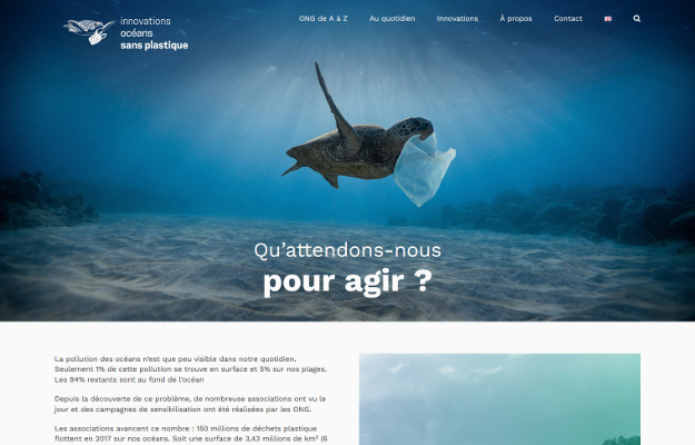 Réalisations Yes You Web! Innovations Océans sans plastique