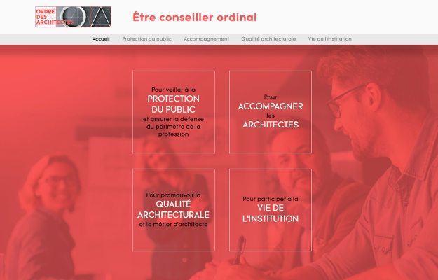 Réalisations Yes You Web! Conseil national de l'ordre des architectes