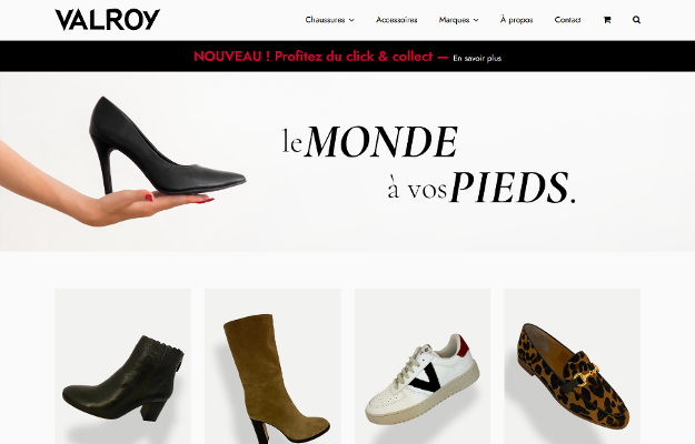 Réalisations Yes You Web! Valroy Chaussures